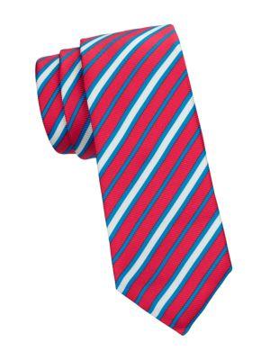 Diagonal Stripe Silk Tie