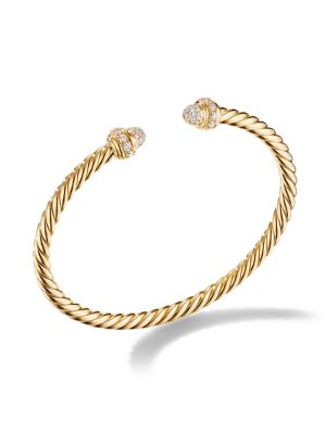 Cable® Bracelet In 18K Yellow Gold With Diamonds