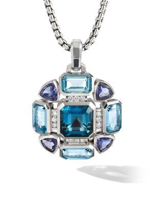 Novella Mosaic Sterling Silver, Diamond & Mixed-Stone Pendant Necklace