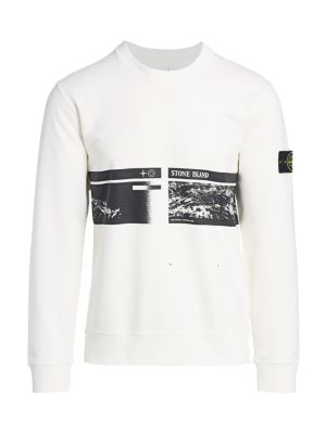 Logo Printed Fleece Crewneck Sweatshirt