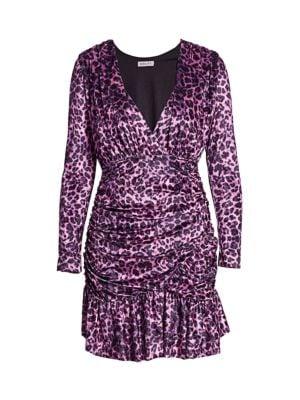 Beverley Leopard Print Velvet Mini Dress