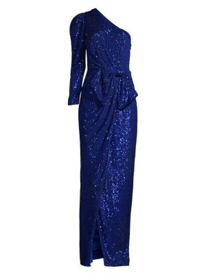 Andi Sequin One-Shoulder Gown