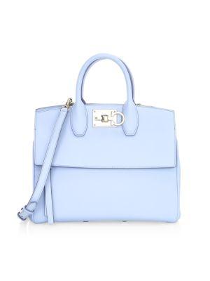 Small Studio Leather Top Handle Bag