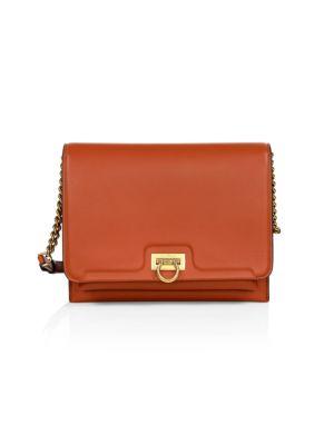 Medium Gancini Leather Crossbody Bag
