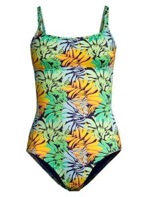 Feria Tropical-Print One-PIece Swimsuit
