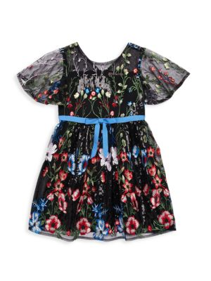 Little Girl's & Girl's Florence Sequin Floral Dress