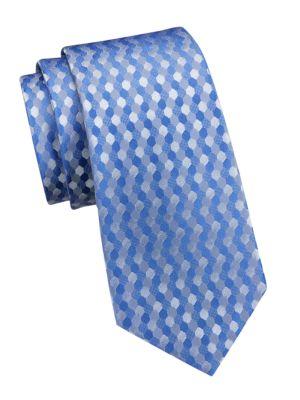 Tonal Print Silk Tie
