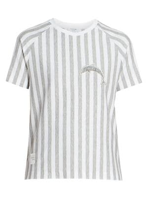 Dolphin Patch Heathered Striped T-Shirt
