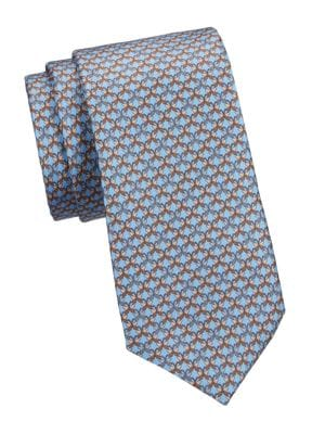 COLLECTION Butterfly-Print Silk Tie