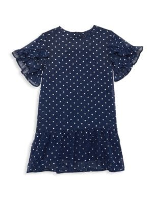 Little Girl's & Girl's Ruffle Chiffon Dress