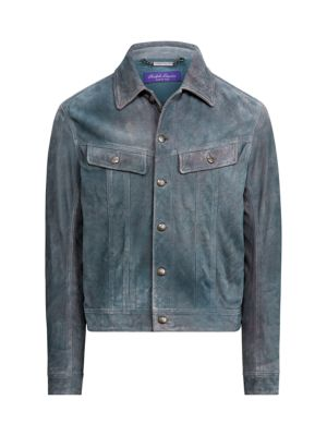 Clifton Suede Trucker Jacket