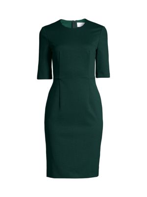 Daxine Structured Jersey Houndstooth Sheath Dress