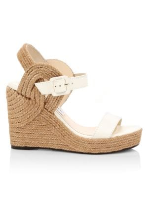 Delphi Leather Rope Wedges