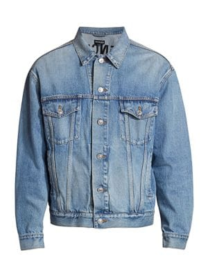 College Logo Denim Jacket