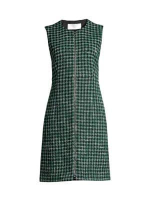Darsha Check Cotton Tweed Dress