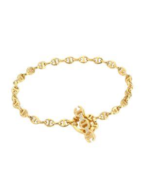 Open-Link 18K Yellow Gold & Diamond Bracelet/3MM