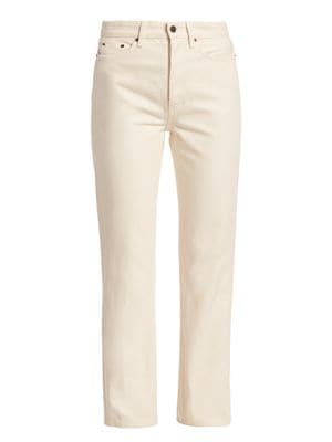 Ash High-Rise Straight Ankle Jeans