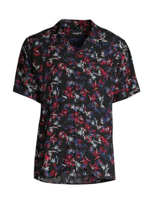 Short-Sleeve Multicolor Camp Shirt