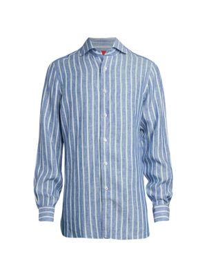 Striped Linen Sport Shirt