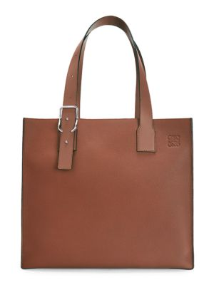 Buckle Leather Tote