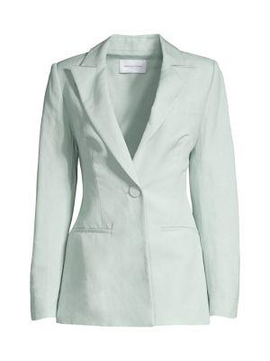 Zahara Linen-Blend Blazer