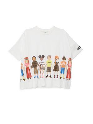 Little Girl's & Girl's People-Print Tee
