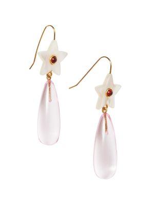 Ziggy 18K Gold Vermeil & Mother-Of-Pearl Star Acrylic Drop Earrings