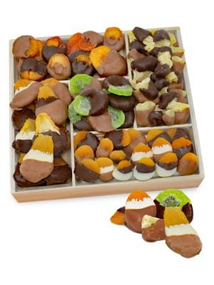 Deluxe Belgian Chocolate Dipped Dried Fruit Tray