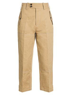 Cotton Gabardine Drill Cargo Pants