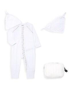 버버리 남아용 4피스 기프트 세트 Burberry Babys 4-Piece Dixie Gift Set,White