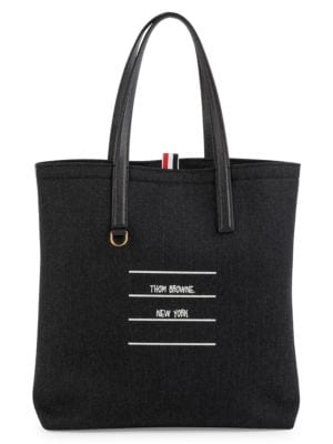 Shiny Tape Wool Lined Tote