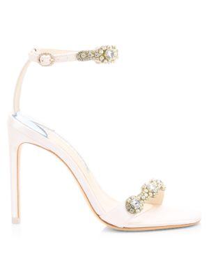 Aaliyah Crystal-Embellished Satin Sandals