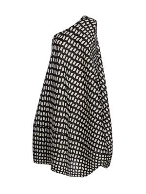 Step One-Shoulder Shift Dress