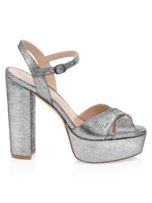 Soliesse Glitter Platform Sandals