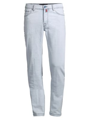 Light Wash Straight-Fit Jeans