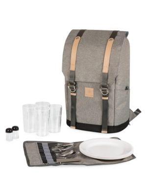 PT-Frontier 25-Piece Flatware & Picnic Backpack Set