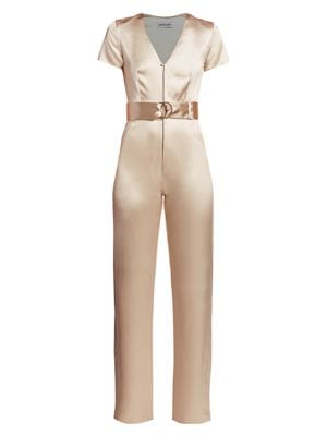 Vice Silk Belted Jumpsuit
