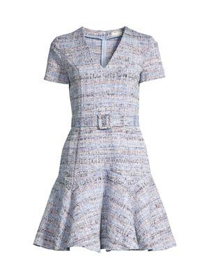 Mallorie Tweed Flounce Dress