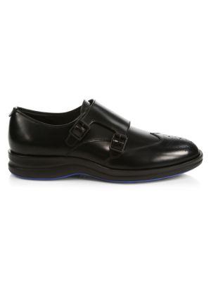 Bond Double Monk-Strap Leather Oxfords
