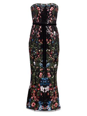 Strapless Sequin Embellished Cocktail Dress