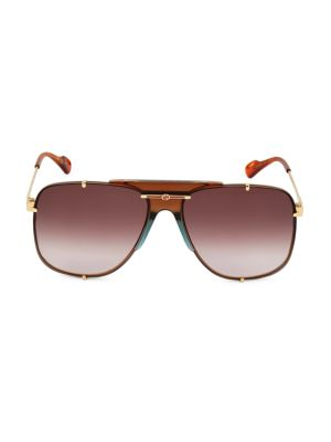 63MM Aviator Sunglasses