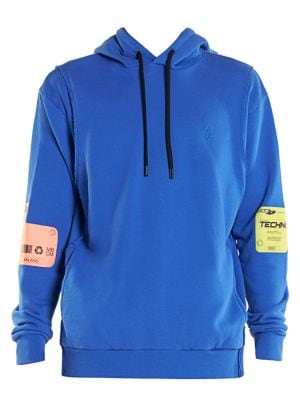 Double Patch Drawstring Hoodie