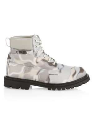 Camouflage Ankle Boots