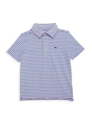 Little Boy's & Boy's Striped Clubhouse Polo Shirt