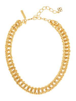 Tubular Braided Goldtone Necklace