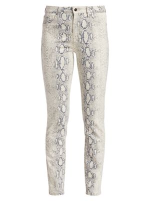 The High-Rise Python Ankle Cigarette Jeans