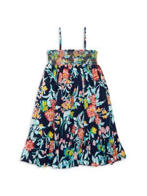 Little Girl's & Girl's Floral Cotton Dress