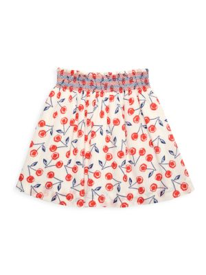 Little Girl's & Girl's Cherry-Print A-line Skirt