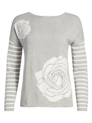 Petite Floral Intarsia Sweater