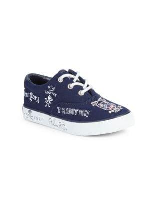 Little Boy's & Boy's Vaughn II Cotton & Leather Sneakers